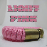 light pink paracord beararms bullet casings jewelry bracelets