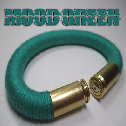 mood green 100% cotton yarn beararms bullet casings jewelry bracelets