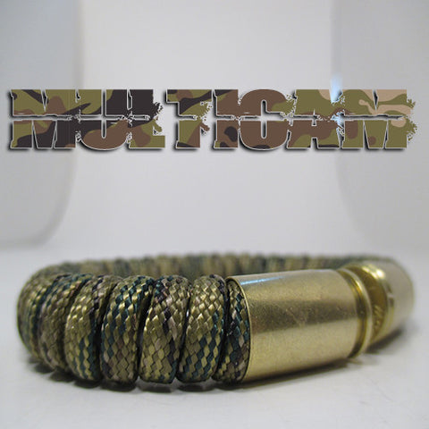 multicam paracord beararms bullet casings jewelry bracelets