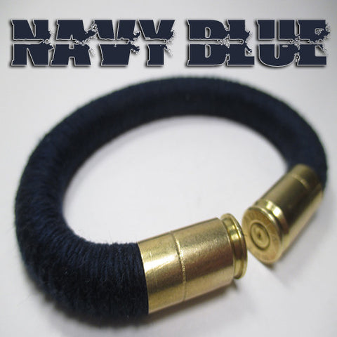 navy blue 100% cotton yarn beararms bullet casings jewelry bracelets