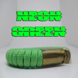 neon green paracord beararms bullet casing bracelet jewelry