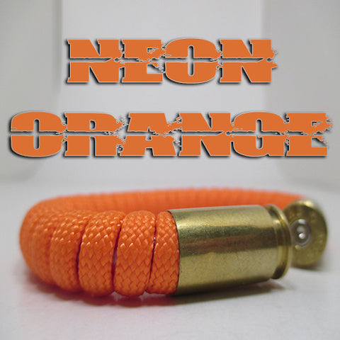 neon orange paracord beararms bullet casing bracelet jewelry