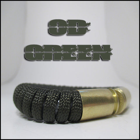 od green paracord beararms bullet casing bracelet jewelry
