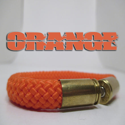 orange beararms bullet casing bracelet jewelry