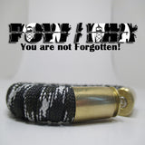 pow mia paracord beararms bullet casing bracelet jewelry