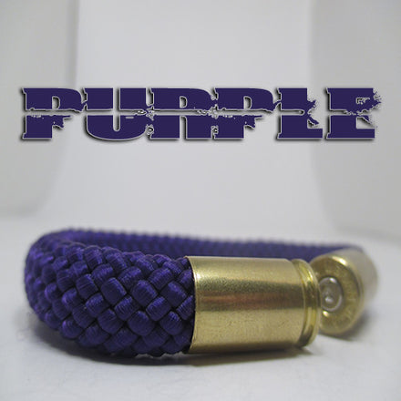 purple beararms bullet casing bracelet jewelry