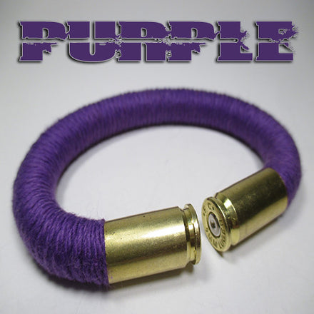 purple 100% cotton yarn beararms bullet casings jewelry bracelets