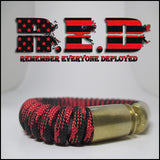 r.e.d paracord beararms bullet casings jewelry bracelets