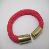 red beararms bullet casing bracelet jewelry