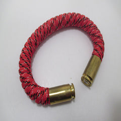 red x paracord beararms bullet casings jewelry bracelets