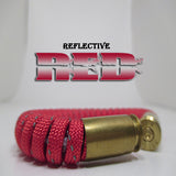 reflective red paracord beararms bullet casings jewelry bracelets