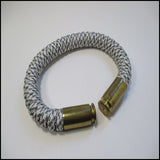 snow camo paracord beararms bullet casing bracelet jewelry