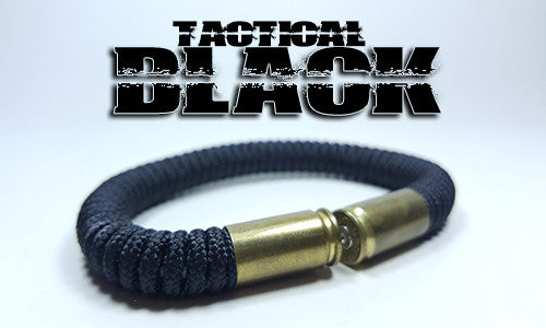 black tactical 275 paracord beararms bullet casings bracelet jewelry