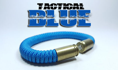 blue tactical 275 paracord beararms bullet casings bracelet jewelry