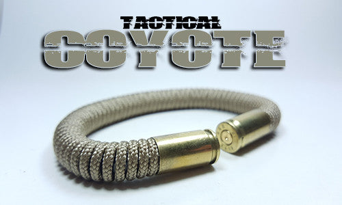 coyote tactical 275 paracord beararms bullet casings bracelet jewelry