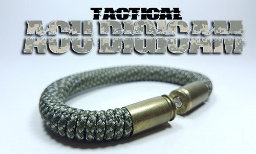 acu digicam tactical 275 paracord beararms bullet casings bracelet jewelry