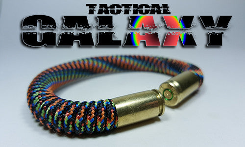 galaxy rainbow tactical 275 paracord beararms bullet casings bracelet jewelry