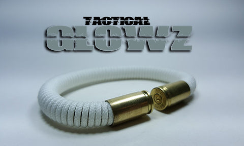 glow in the dark tactical 275 paracord beararms bullet casings bracelet jewelry