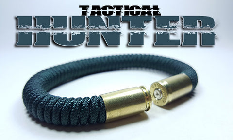 hunter green tactical 275 paracord beararms bullet casings bracelet jewelry