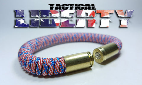 liberty american flag tactical 275 paracord beararms bullet casings bracelet jewelry