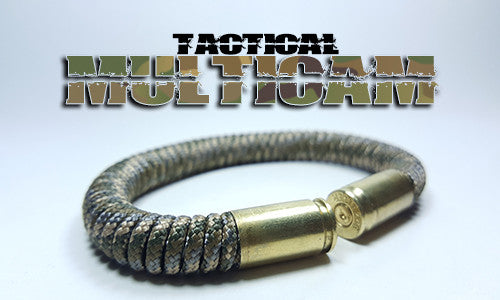 Multicam tactical 275 paracord beararms bullet casings bracelet jewelry