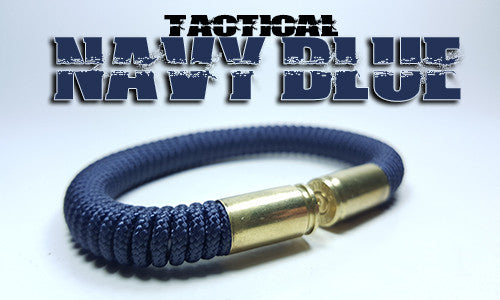 navy blue tactical 275 paracord beararms bullet casings bracelet jewelry