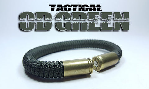 od green tactical 275 paracord beararms bullet casings bracelet jewelry
