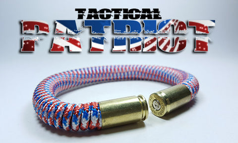patriot red white blue tactical 275 paracord beararms bullet casings bracelet jewelry