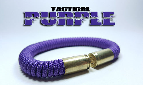 purple tactical 275 paracord beararms bullet casings bracelet jewelry