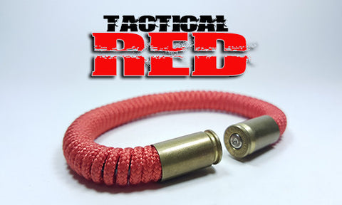 red tactical 275 paracord beararms bullet casings bracelet jewelry