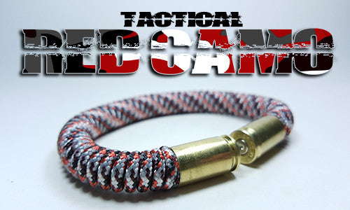 red camo tactical 275 paracord beararms bullet casings bracelet jewelry