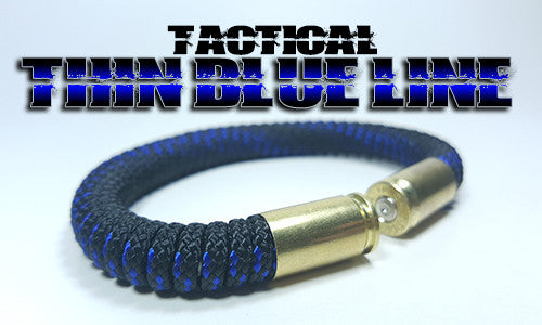 thin blue line tactical 275 paracord beararms bullet casings bracelet jewelry