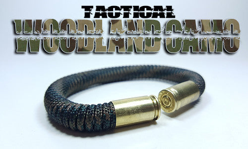 woodland camo tactical 275 paracord beararms bullet casings bracelet jewelry