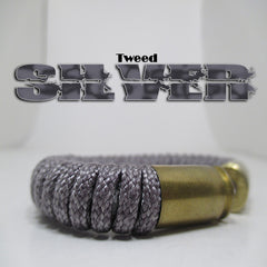 tweed silver paracord beararms bullet casings jewelry bracelets