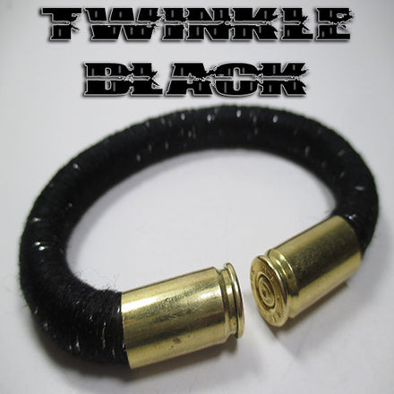 twinkle black 100% cotton yarn beararms bullet casings jewelry bracelets