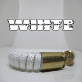 white paracord beararms bullet casings jewelry bracelets