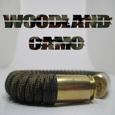 woodland camo paracord beararms bullet casings jewelry bracelets