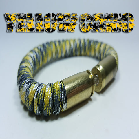 yellow camo paracord beararms bullet casings jewelry bracelets