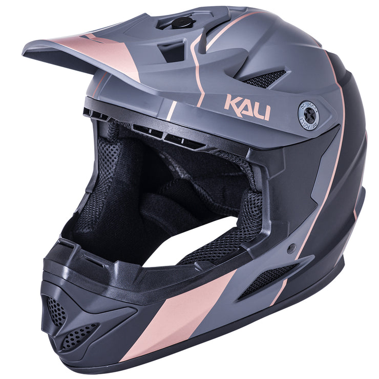Kali Zoka Stripe Mat Black/Bronze Helmet - The E-Scooter Co.
