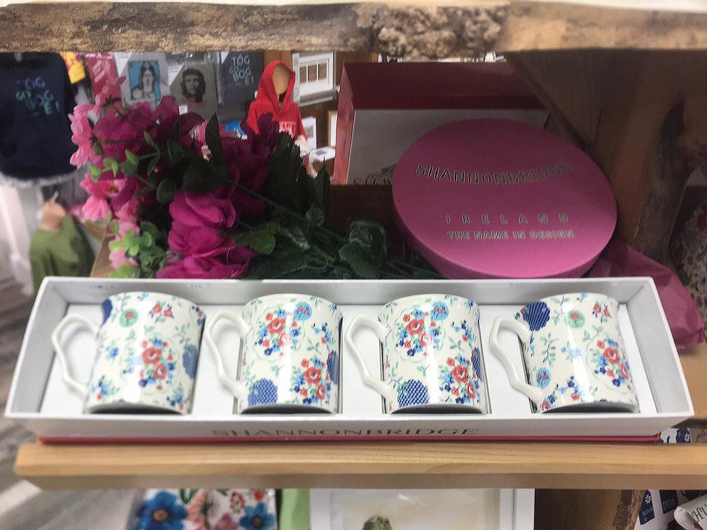 Shannonbridge Pottery Ireland Fancy Fayre 4 Piece Set