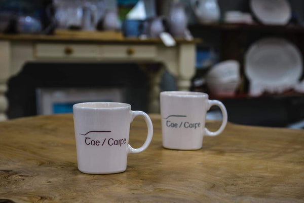 A Taste Of Carntogher Pottery Tae Caife Mug Teal