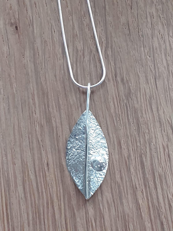 Handcrafted Jewellery by Geraldine Leaf Pendant