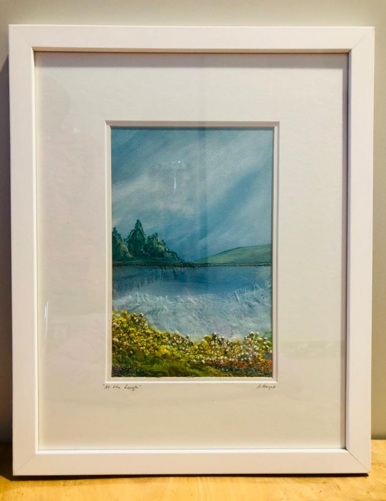 Andrea Hayes Textile Artist At The Lough Framed