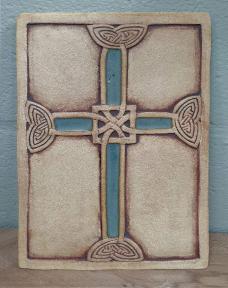 Michelle Butler Ceramics Celtic Wall Cross Large