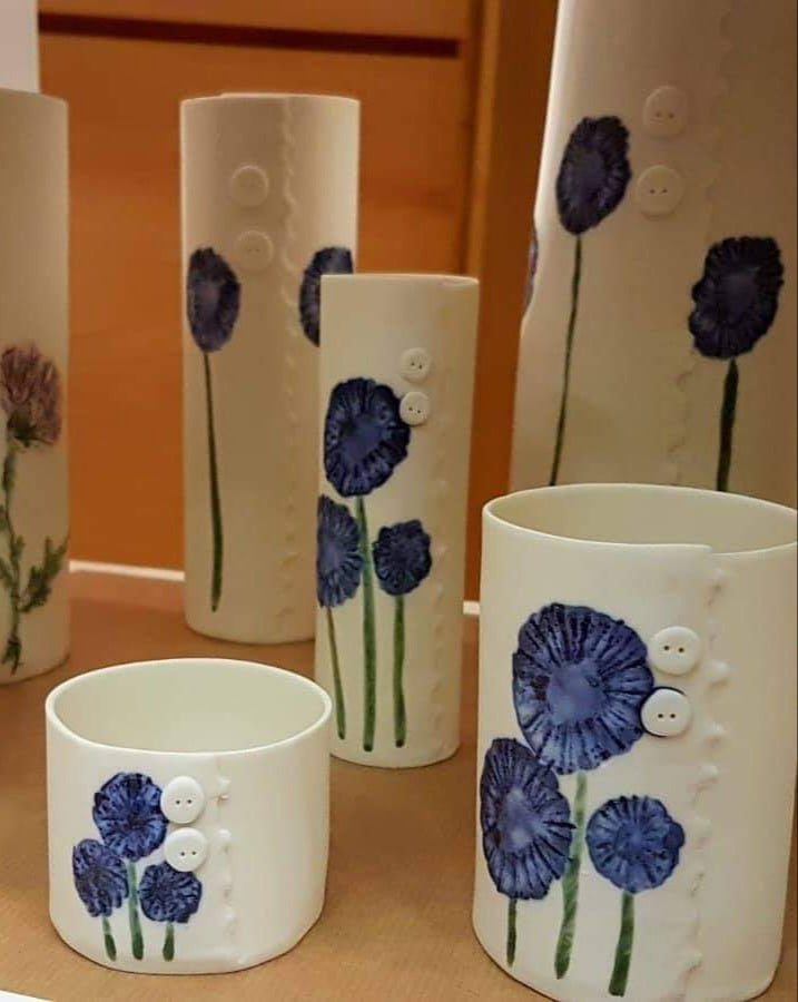 Lynda B Jewellery and Ceramics Daisy Vase Range