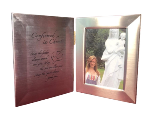 Confirmation Gifts Double Photograph Frame With Prayer