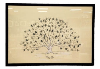 Personalised Wedding Fingerprint Tree - Large