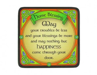 Clara Crafts Home Blessing Coaster