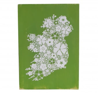 Ireland Wood Plaque in Green - Small