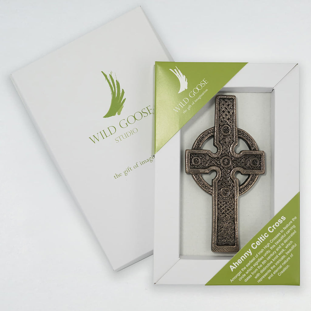 Wild Goose Ahenny Celtic Cross Plaque